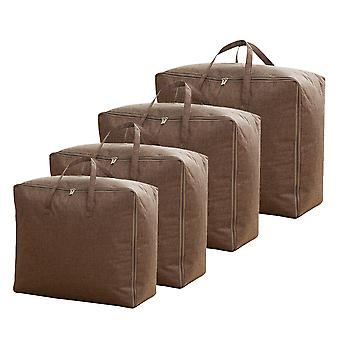 4pcs Storage Bag Organizer for Comforters, Blankets, Bedding, Clothes