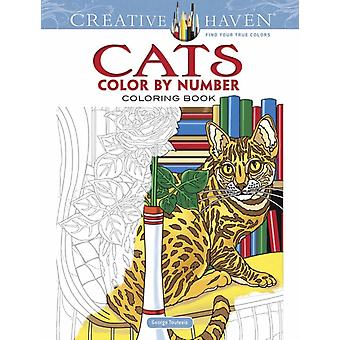 Creative Haven Cats Color by Number Coloring Book by Toufexis & George