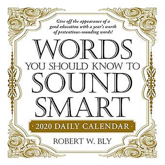 Wörter, die Sie wissen sollten, um Smart 2020 Tageskalender von Robert W Bly klingen