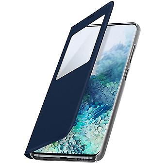 Klapphülle mit Sichtfenster & Kartenfach Samsung Galaxy S20 Plus – Dunkelblau