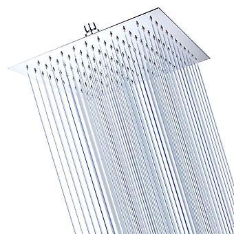 Aquaterior 12 Inch Chrome High Pressure Rainfall Showerhead Large Waterfall Ultra Thin Rain Shower Head Stainless Steel