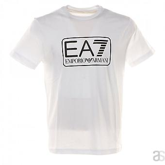 EA7 Emporio Armani Cotton Printed Logo White T-shirt