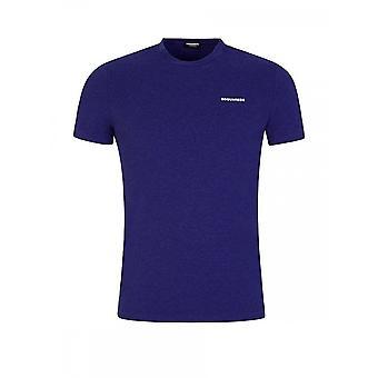 DSQUARED2 シンプルパープルTシャツ