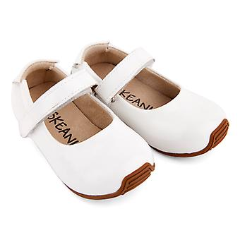 SKEANIE Toddler and Kids Leather Mary-Jane Shoes in Patent White