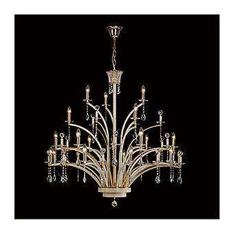 Orleto 21 Pendant Lamp Golden / Crystal Bulb (assembly Required)