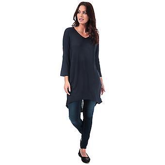 Femmes-apos;s Vero Moda Paya V-Neck Longline Jersey Top en bleu