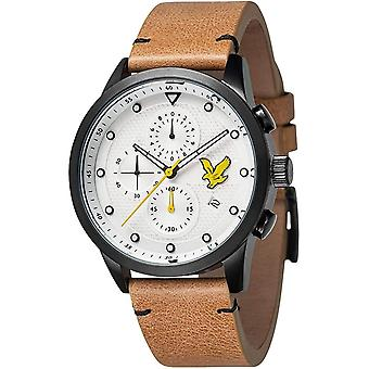 Lyle & Scott LS-6019-04 Menn&s Regal Hvit Dial Chronograph Armbåndsur