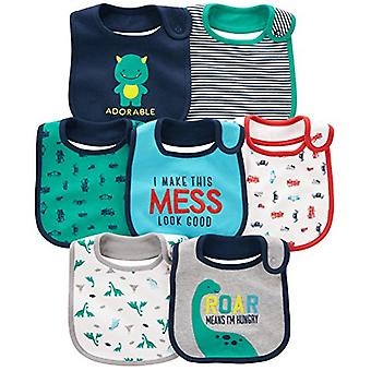 Simple Joys by Carter's Baby Boy's 7-Pack Teething Bib,, Blue, Size One Size