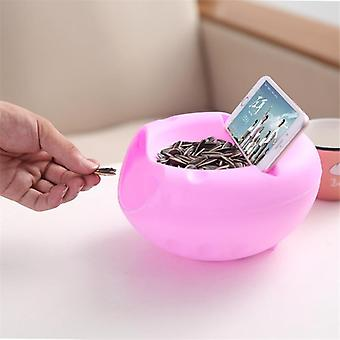 Modern Living Room Creative Shape Lazy Snack Bowl Plastic With Double Layers