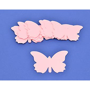 15 Diecut Pink Card Butterfliy Shapes - Ready to Decorate