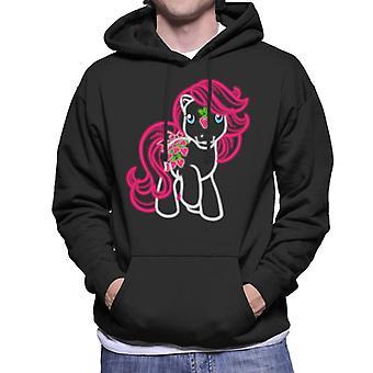 Min Lille Pony Neon Jordbær Menn's Hette Sweatshirt