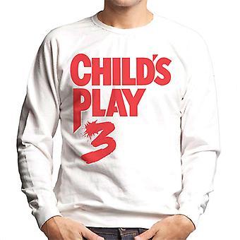 Chucky Childs Play 3 klassisk röd logo typ män ' s tröja