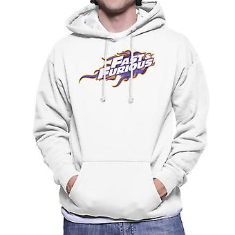 Fast and Furious Orange Purple Logo Homme-apos;s Sweatshirt à capuchon