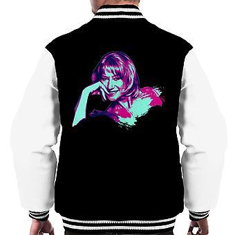 TV Times Helen Mirren Pop Art Gestileerde Men's Varsity Jacket