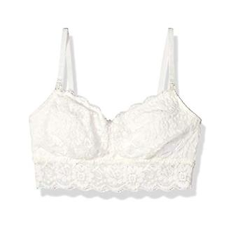 Brand - Arabella Women's Classic Lace Nursing Bralette, Ivory, Small