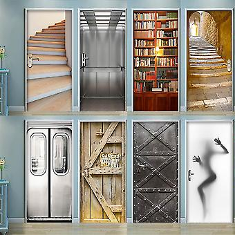 3d Door Wrap Wall Sticker Mural Mural Wallpaper Poster - Auto Adesivo Pvc Removível