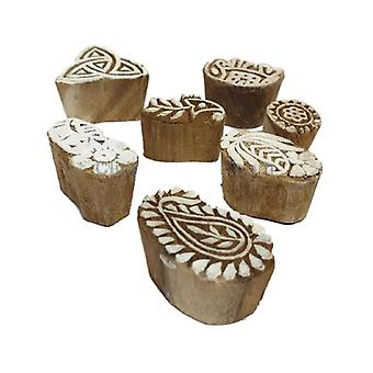 Deco4yourhome Wooden Stamps 10pcs