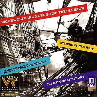 E.W. Korngold - Erich Wolfgang Korngold: The Sea Hawk; Symphony in F-Sharp [CD] USA import