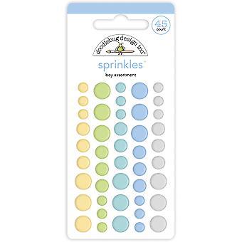 Doodlebug Design Baby Boy Valikoima sprinkles (45kpl) (6759)
