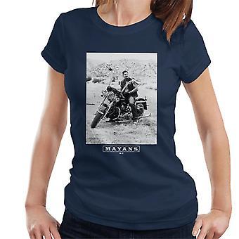 Mayans M.C. Motorcycle Club Ezekiel Reyes EZ Black And White Women's T-Shirt