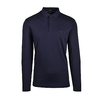 BOSS Athleisure Boss Pirol Maglia Lunga Polo Camicia Blu Scuro