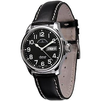 Zeno-Watch - Wristwatch - Men - Basic Pilot Day Date (new edition) - 12836DD-a1-Sapphire