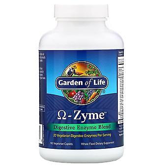 Livets trädgård, Omega-Zyme, Digestive Enzyme Blend, 180 Vegetariska Caplets