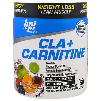 BPI Sports, CLA + Carnitine, Fruit Punch, 10.58 oz (300 g)