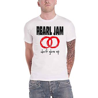 Pearl Jam T Shirt Dont Give Up Band Logo new Official Mens White