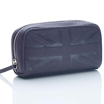 Plum Britannia Leather Small Cosmetic Case