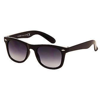 Sonnenbrille Unisex  Classic   schwarz mit grauer Linse (AZ-44)
