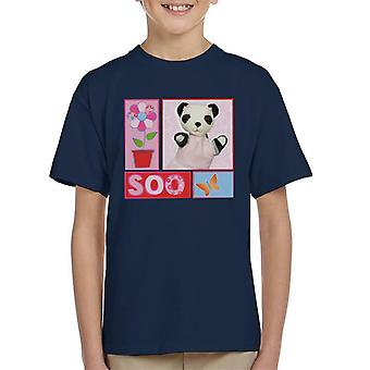 Sooty Soo Retro Floral Kid's T-Shirt
