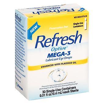Refresh optive mega-3 oogdruppels, conserveermiddel vrij, 30 ea *
