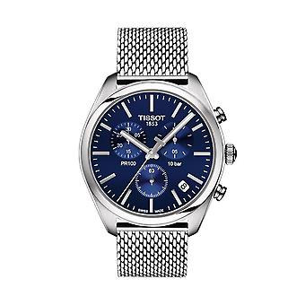 Tissot T101.417.11.041.00 PR 100 Chronograph Quartz Blue Dial Men's Watch