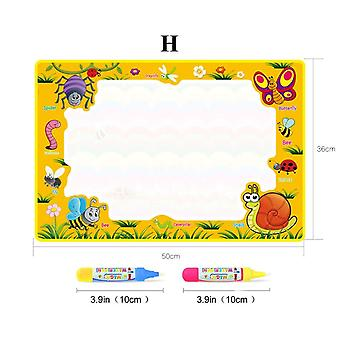 Magic Water Painting Drawing Mat & 2 Pens Doodle Board Libros para colorear para niños juguetes educativos