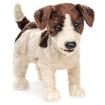 Hand Puppet Folkmanis Terrier Jack Russell Animals Doll Plush 2848