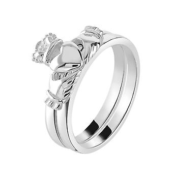 Heritage Sterling Silver Claddagh Piece Stacking Ring 2383HP