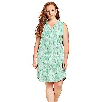 Rösch 1204661-16081 Women's Curve Green Leaves Floral Nightdress