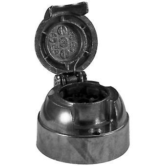 Steckerbox mit Nebelschalter 7-polig metallgrau
