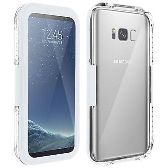 Galaxy S8 Protection wasserdichtes Gehäuse, IP68 Wasserdicht 6m, Shockproof-White