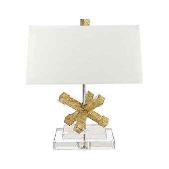 Elstead Jackson - 1 Lys Firkantet bordlampe guld, E27