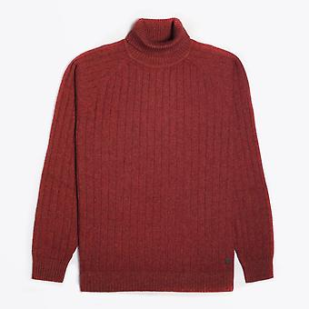 Thomas Maine  - Wool Roll-Neck Pullover - Burnt Orange