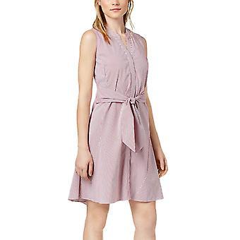 Bar III | Varsity hage stripete tie-front kjole
