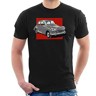 Morris Minor Red Background British Motor Heritage Men's T-Shirt