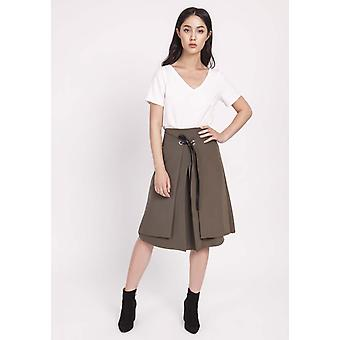 Khaki lanti skirts