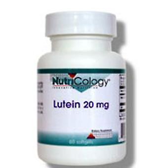 Nutricologie/ Allergie onderzoeksgroep Lutein, 20 mg, 60 Softgels