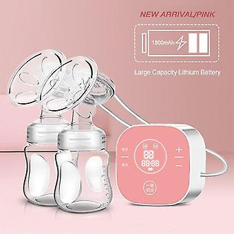 Electric Double Breast Pumps Breastfeeding Painless -portable Strong Suction