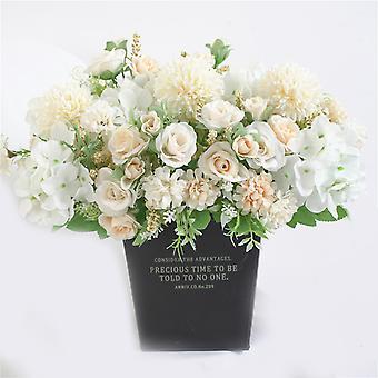 Pokój dzienny Dekoracja wnętrz Symulując Kolorowe Bukiet Kwiatów Ślubnych