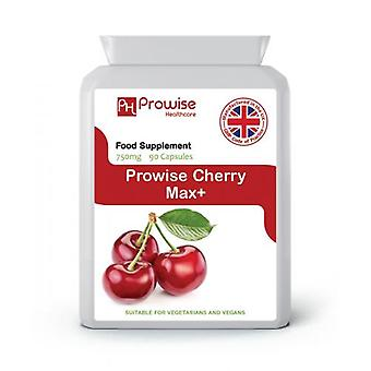 Cherry Max 750mg 90 Capsules | Suitable For Vegetarians & Vegans | Made In UK