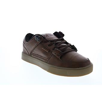 Osiris Protocol  Mens Brown Leather Skate Sneakers Shoes